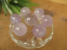 Seven Lovely Natural Amethyst Quartz Ball Purple Crystal Sphere Orb Reiki+Stand