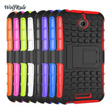 WolfRule For Case HTC Desire 510 Cover Silicone Hard Plastic Case For HTC Desire 510 Case Cell Phone Holder Stand For HTC 510