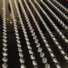 3.3 FT Crystal Clear Acrylic Bead Garland Chandelier Hanging Window Door Curtain Passage Wedding Backdrop