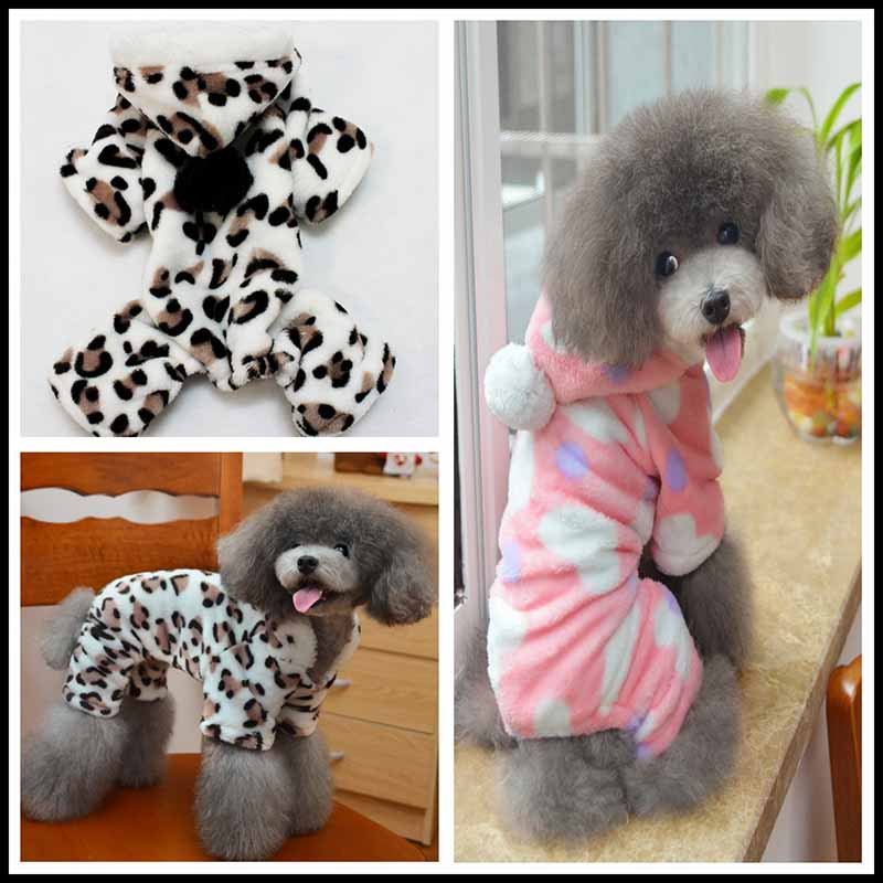 Fleece Dog Pajamas Small Dogs Pets Jumpsuits Rompers Winter Pet Clothes Chihuahua Yorkshire Clothing Wholesale Super Soft and Comfort1