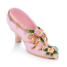 Grade ceramic crafts Elegant high-heeled shoes made of ceramic decorations Surprise pottery nice gift(China)