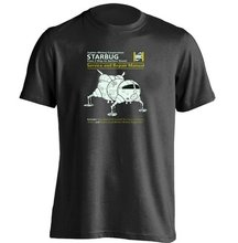 Red Dwarf Starbug Service And Repair Manual Unisex Cool T Shirt(China)