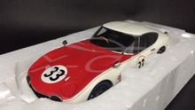 Diecast Car Model AUTOART 1:18 Toyota 2000 GT SCCA 1968 #33 + SMALL GIFT!!!!!!!!!