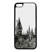 Harry Potter Series Sketch of Hogwarts Fun Art For iPhone 6 6s 7 Plus Case TPU Phone Cases Cover Mobile Protection Decor Gift
