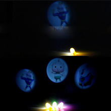 3Pcs Colorful LED Finger Projection Different Cartoon Anime pattern Lights Light-up Rings Party Gadgets Kids Toy For Kids Gift