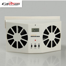 Car Styling Solar Sun Power Car Auto Air Vent Cool Fan Cooler Ventilation System Radiator,Can be use battery car Air Purifiers(China)