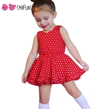 chifuna Summer Girls Dress with Shorts 2pcs Heart Pattern Sleeveless Children's Fashion Wear Outfits 2017 New Princess Dress