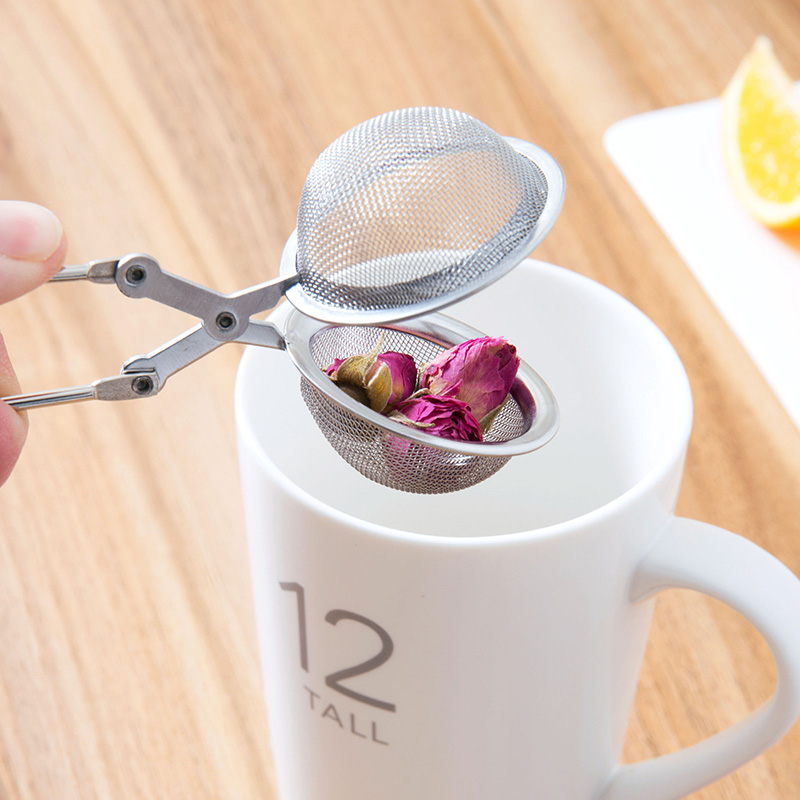 1pc Mesh Tea Infuser Filter Stainless Steel Tea Strainer With Handle Sphere Shape Tea Ball Filter Portable Brew Tea Accessories (9)