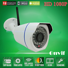 2 Pieces 2.0MP Security Wifi IP Camera Outdoor CCTV Full HD 1080P 2.0 Megapixel Bullet mini Camera IP 1080P Lens IR ONVIF 36 LED