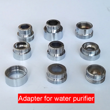 "1pc Chrome Brass Faucet Aerator Adapter Male Female M22 M24 G1/2"" 3/4"" Pipe Fittings Water Purifier Accessories M16 18 20 28(China)"