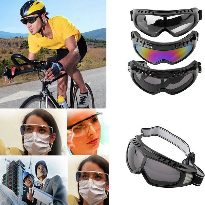 Motorcycle Cycling Glasses Wind Airsoft Bike Road Racing Padded Safety Goggles