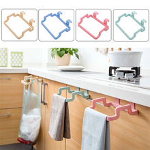 1Pc Hanging Trash Rubbish Bag Holder Storage Garbage Square Hanging On Cupboard Cabinet Save Place For Kitchen And Room Hot Sale(China)