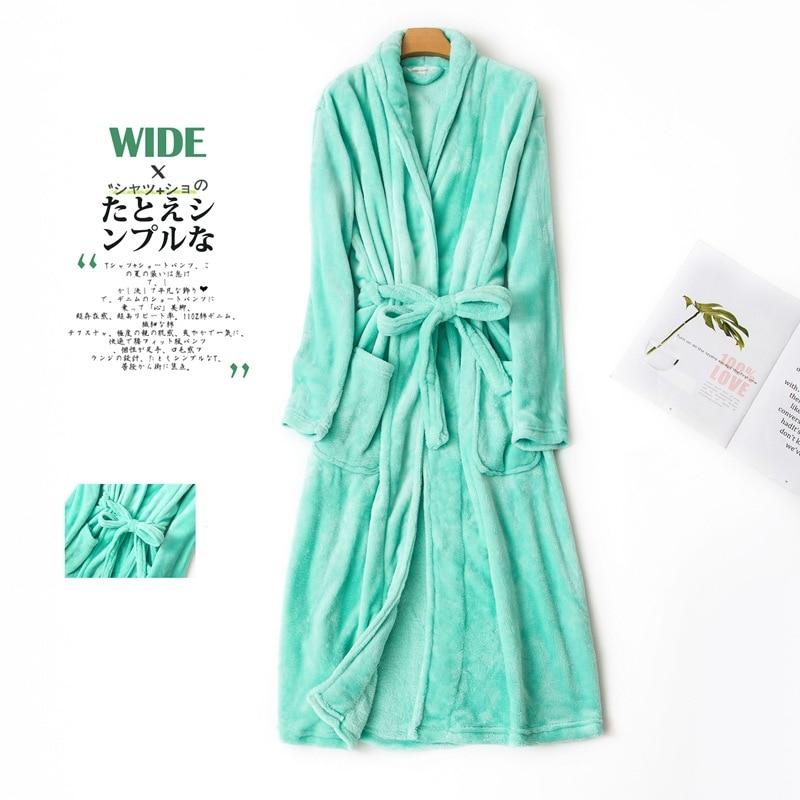women flannel bathrobe winter (4)