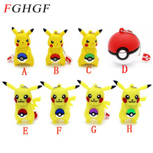 FGHGF cartoon animal cute Pokemon Pikachu model USB Flash Drive pendrive 4GB 8GB 16GB 32GB USB 2.0 pen drive flash memory stick(China)