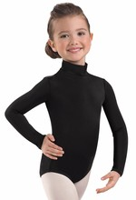 Lycra Spandex Long Sleeve Turtleneck Leotard Girls Gymnastics Leotards for Kids Toddler Baby Ballet Dance Leotards Costumes(China)
