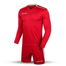 2016 Wholesale Kelme K16Z2004L Men Autumn Long Sleeve Thin Training Light Board Team Football Jersey Suit Red