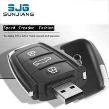 Real Capacity Audi Car Key USB Flash Drive 8GB 16G 32G 64GB Pendrive Memory Stick Pen Drive memoria usb U Disk 4GB cool Gift(China)
