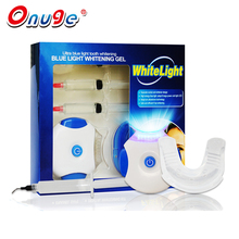 Professional Home Use 8x LED Blue Light Teeth Whitening Kit Hydrogen Gel Syringes LAMP Applicator Tray Tooth Bleaching Kit