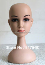 HOT SALE!High quality Unbreakable Realistic Plastic kid/child mannequin dummy head for hat display manikin heads