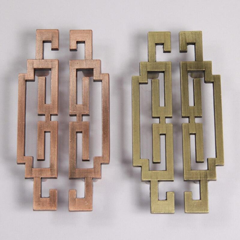 96mm Vintage Bronze Kichen Cabinet Pulls,Brass Dresser Handle,Left Right Zinc Alloy Wardrobe door Furniture Handles Pulls Knobs<br><br>Aliexpress