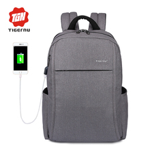 2017 Design Tigernu Anti-thief USB charging Men Women laptop Compute backpack school backpack Casual Multifunction Laptop Bag(China)