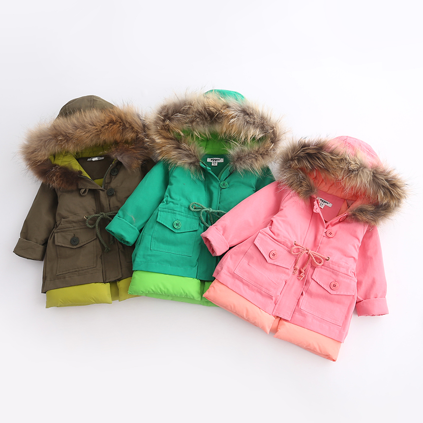 Autumn Winter Warm Parkas Hooded Casual Kids Zipper Solid Clothes Children Girls Coats Baby Outerwear Solid Clothing 6pcs/LOTОдежда и ак�е��уары<br><br><br>Aliexpress