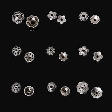 334Pcs Metal Flower Bead Caps Vintage Filigree DIY Jewelry Making Findings Mixed Silver Plated Accessories components supplies(China)