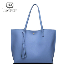 Luvletter 2017 shoulder bag women Totes casual handbag pu leather handbags Large capacity bucket bags Fashion bao - luvletter Store store