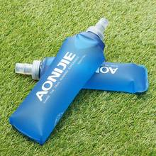 Outdoors Foldable Blue Water Bottle Traveling Sport Running Cycling Kettle Healthy Soft Material Hiking Camping Jug 250ML 500ML(China)
