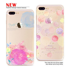FEIHOO ELE Phone Case For iPhone 7 7plus 6s 6plus 5s Beautiful Japan And South Korea Style Silicone Transparent TPU Soft Cover(China)