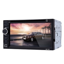 362 2 Din Car Video Player 6.2 inch Car DVD Player 2din Bluetooth FM Function Audio Stereo Touch Screen with Remote Control