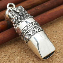 2016 Arrival Exquisite Owl Whistle pendant 100% 925 sterling silver buddha necklace pendant for men women Vintage jewelry Z10(China)