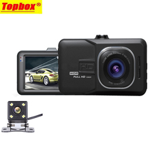 2017 New Dual Lens Car DVR Cam Dash Cam 1080P Full HD Video Registrar Recorder With Backup Rearview Camera G-Sensor WDR DVRs