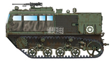 Military Assembly Model Tracked Armored Vehicle 1/72 American Army M4 High Speed Tractor 82920(China)