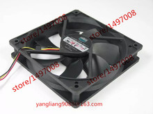 Free Shipping For  Cooler Master A12025-12CB-3BN-F1 DC 12V 0.16A 3-wire 3-pin 100mm 120X120X25mm Server Square Cooling Fan