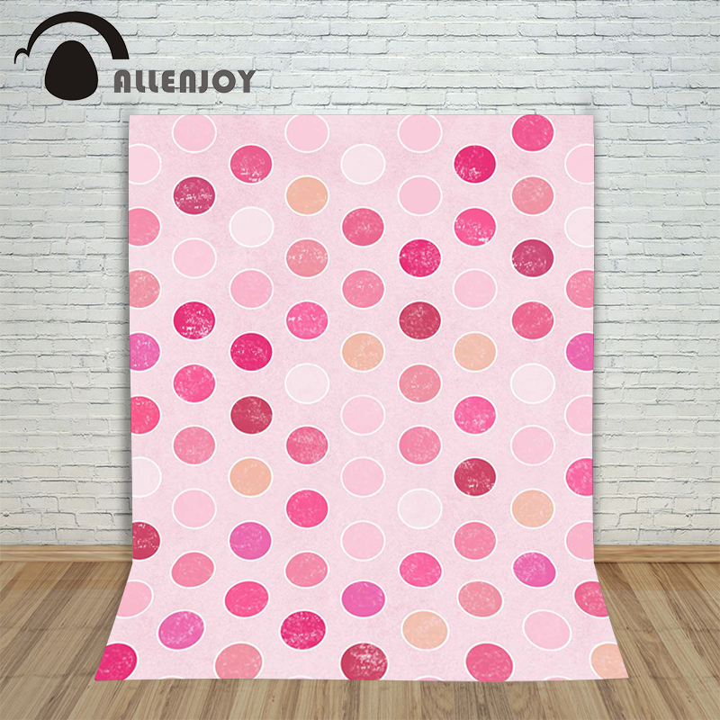 Allenjoy photographic background Pink dots spots backdrops princess kids props Send rolled 10x20<br><br>Aliexpress
