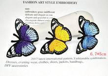 Fashio 3pcs butterfly Iron On Patches For Clothing Embroidery Sewing on Patch DIY Apparel Appliques Badge Stickers For Clothes