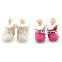 Infant Girl Fleece Crib Shoes Newborn Toddler Winter Boot Baby Walking Shoes New ZC2