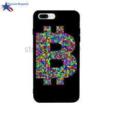 Low Poly Prismatic Bitcoin For IPhone X 8 6S 7 7Plus Colorful Back Cover Case Cheap Funny TPU For IPhone 6s Plus/7/7 Plus(China)