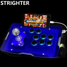 Transparent Arcade Joystick for OTG Android Phones and Computer PC Acrylic panels Controller Black Buttons Consoles