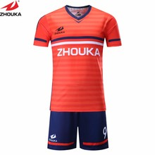 orange football uniform 2017-18 season custom team uniform personal design soccer team jerseys(China)
