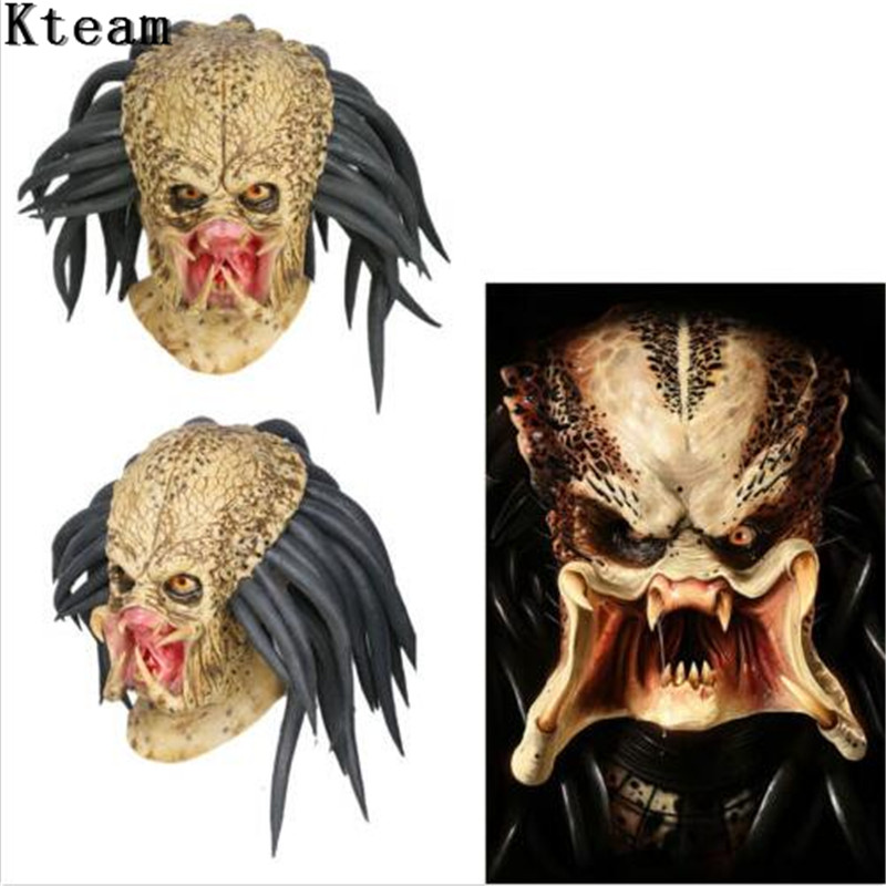 Halloween The Predator Alien Scary Mask Latex Dress Party Cosplay Costume props