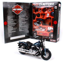 1:18 DIY Maisto Assembly Motorcycle Toy Die cast Metal & ABS 2008 FLSTSB Harley Motorbike Assembling Model Kids Toys Juguetes