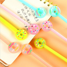 0.38mm Creative Cartoon Donuts Gel Pen Cute Kawaii Candy Color Pens For Writing School Supplies Stationery Free Shipping 2110