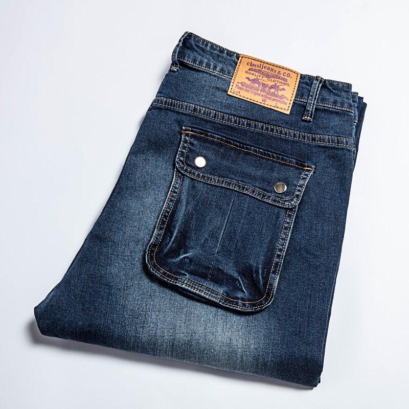 plus size 10XL 8XL 6XL 5XL 4XL Casual Straight Denim Jeans Men Pants Deep Blue Pantacourt Homme Marque Jeans 44 46 48 50 BigÎäåæäà è àêñåññóàðû<br><br>
