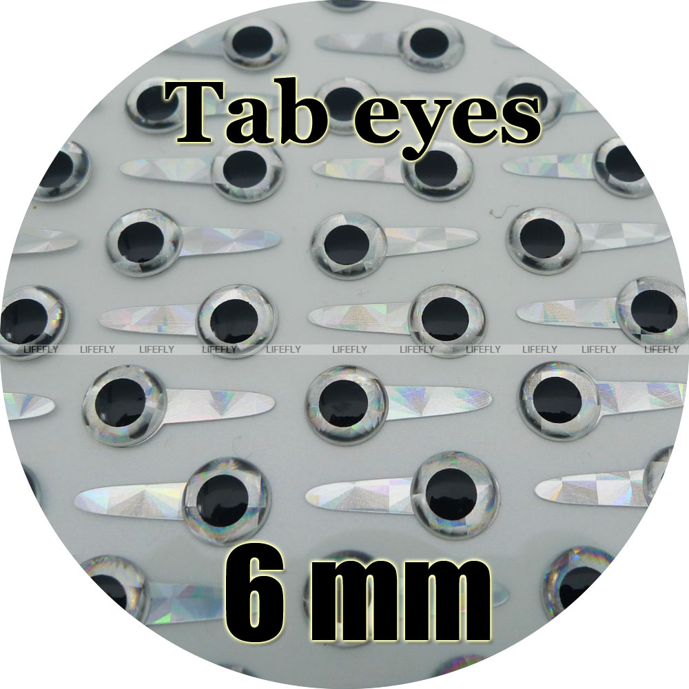 Fish Eyes 100 each 3D Molded Soft Holographic 6mm