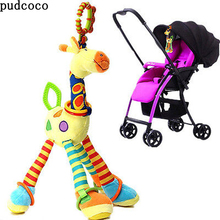 Family Giraffe Cotton Soft Puppets Cloth Doll Baby Educational Hand Cartoon Animal Baby Toy For Stroller 2 years 0-12Month