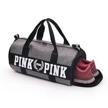 2018 pink love shoe bag fit Fashion Unisex Travel Tote Shoulder Bag super  Waterproof Duffle walk vs Bag ca4b38f76b8f