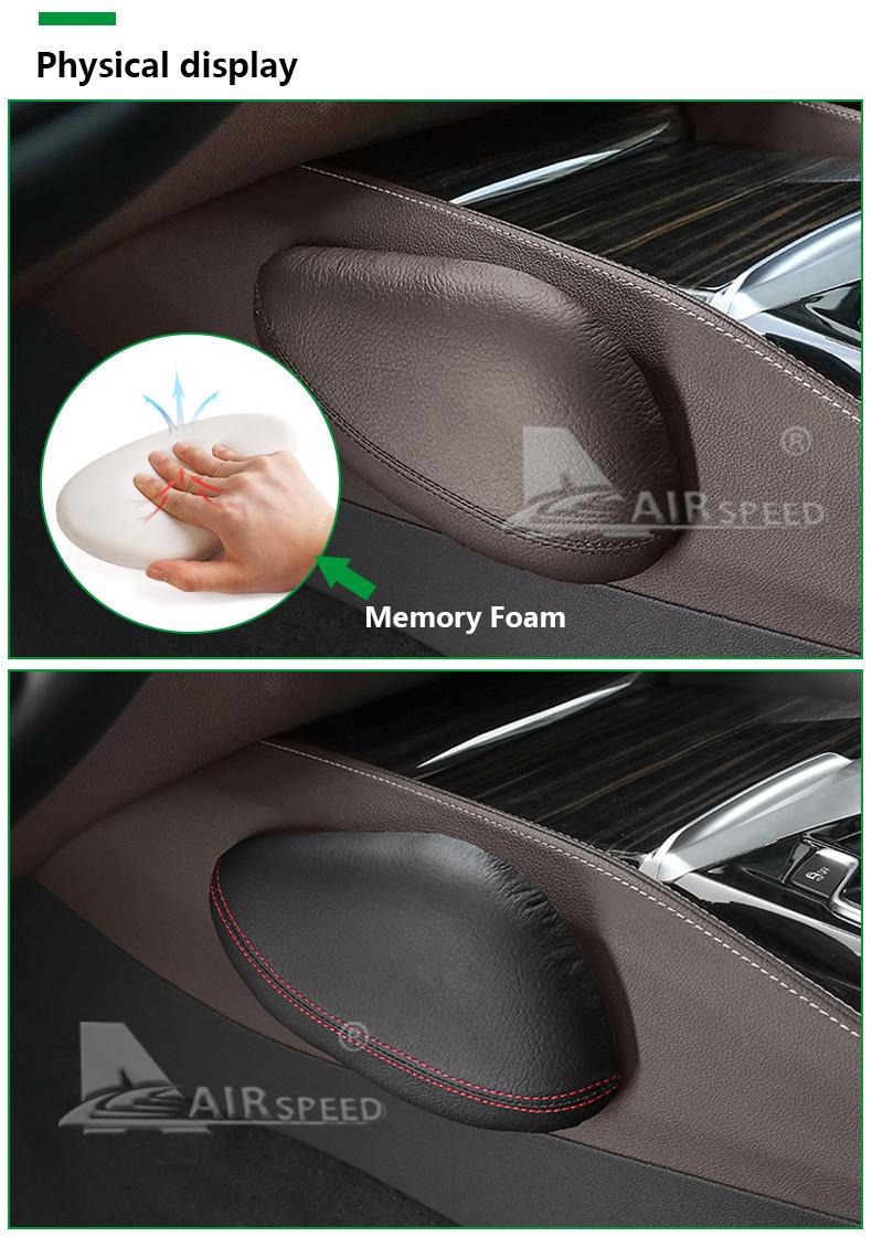Leather Leg Cushion Knee Pad Thigh Support Pillow Interior Car Accessories for BMW E46 E39 E60 E90 E36 F30 F10 X5 Z4 7 (5)