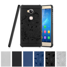 3D Relief TPU Case for Huawei Honor 5X 5 X X5 / GR5 GR 5 KIW KII KIW-L21 L21 KIW-UL00 KIW-L24 Case Phone Back Cover l24 l22(China)